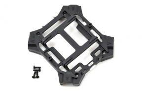 Traxxas Main frame, lower (black) / 1.6x5mm BCS (self-tapping) (4)