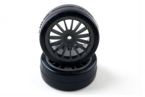 Kyosho Drift Tire Front (14-Spoke/Black)