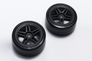 Kyosho Drift Tire Front(10Spoke/BK/24mm/2pcs)
