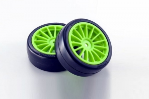 Kyosho Drift Tire(Pre-glued/F-Green/2pcs)FAZER
