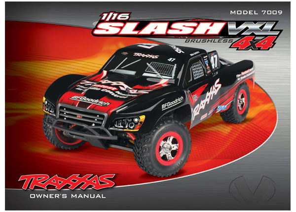 Owner's manual, 1:16 Slash 4WD VXL (model 7009)