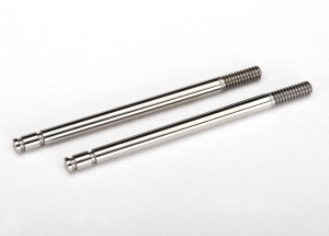 Shock shafts, steel, chrome finish (2)
