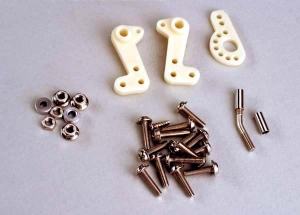 Servo conn.assy.:screws, washers, nuts:bellcranks:radius arm:bent rod:pipe