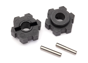 Wheel hubs, hex (2)/ 2.5x12 pins (2)