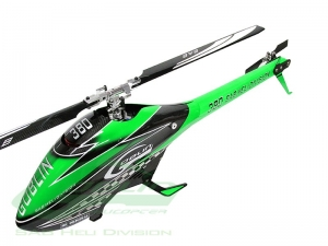 Goblin 380 Carbon/Green (with 380mm Black line main blades)